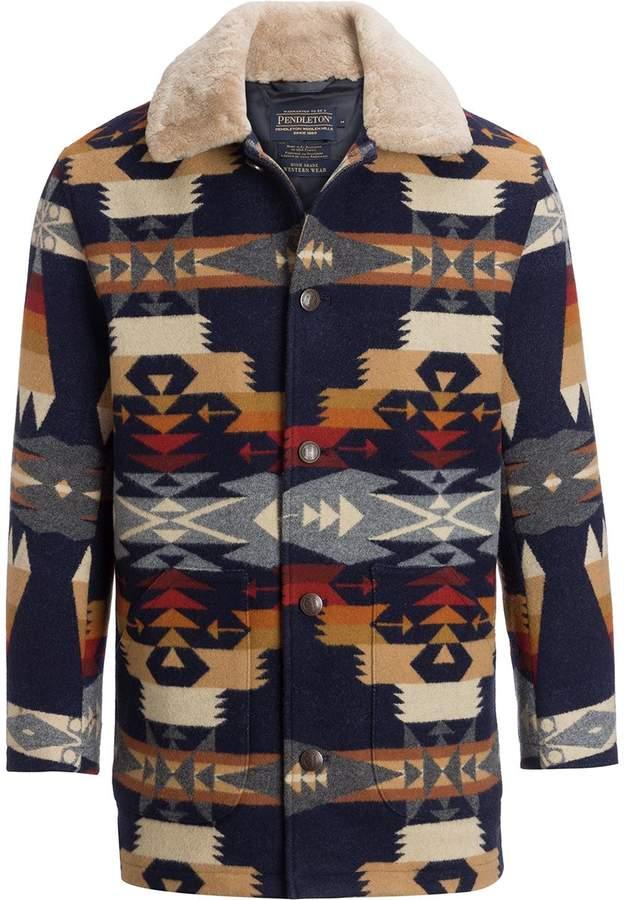 1bf2c99909 Pendleton Brownsville Shearling Collar Coat - Men's Kabát, Pulóverek,  Dzsekik, Férfi Ruházat