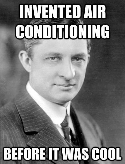 Get it? 😂😂😂  Willis Carrier first invented the modern AC unit back in 1902, but it would be decades until they became a popular solution in homes throughout the US. __________ #pexuniverse #airconditioning #williscarrier #og #theoriginalwillis #whatyoutalkinboutwillis #funfacts #friday #plumbing #pex #lifehacks #solutions #homeimprovement #invention #unpopular #hardwork #plumbingsolutions #tradesman #onthejob #creative #problems #genius #installation #perserverance #gogetter #plumblife