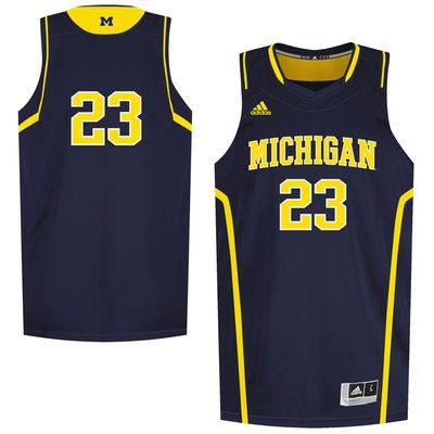 23 Michigan Wolverines Adidas Replica Basketball Jersey Navy Blue Jersey Basketball Jersey Jersey Design