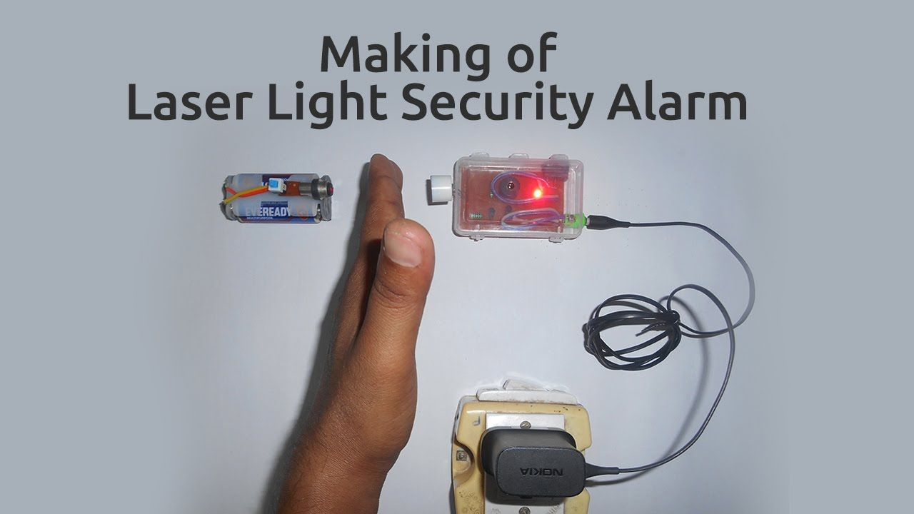 How to make a Laser Light Security Alarm | Bhargavi | Pinterest ...