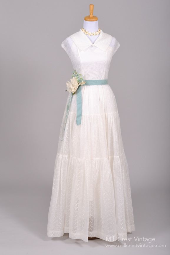 559f4183c4b 1940 Voile Vintage Wedding Gown   Mill Crest Vintage