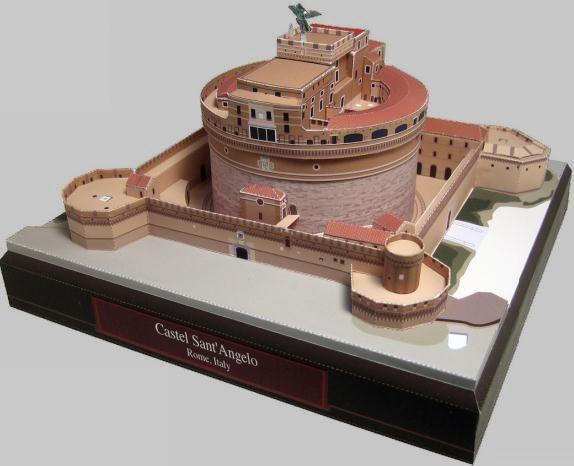 Mausoleum Of Hadrian Paper Model Castel Sant'Angelo by