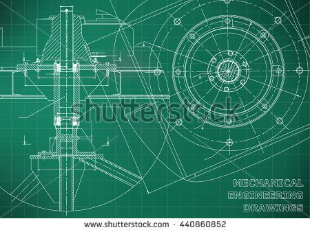 Mechanical engineering drawings vector green background grid line mechanical engineering drawings vector green background grid line bubushonok art bubushonokart malvernweather Images