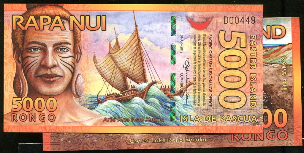 Easter Island p new , 2012 , 5000 Rongo, UNC polymer picclick.com