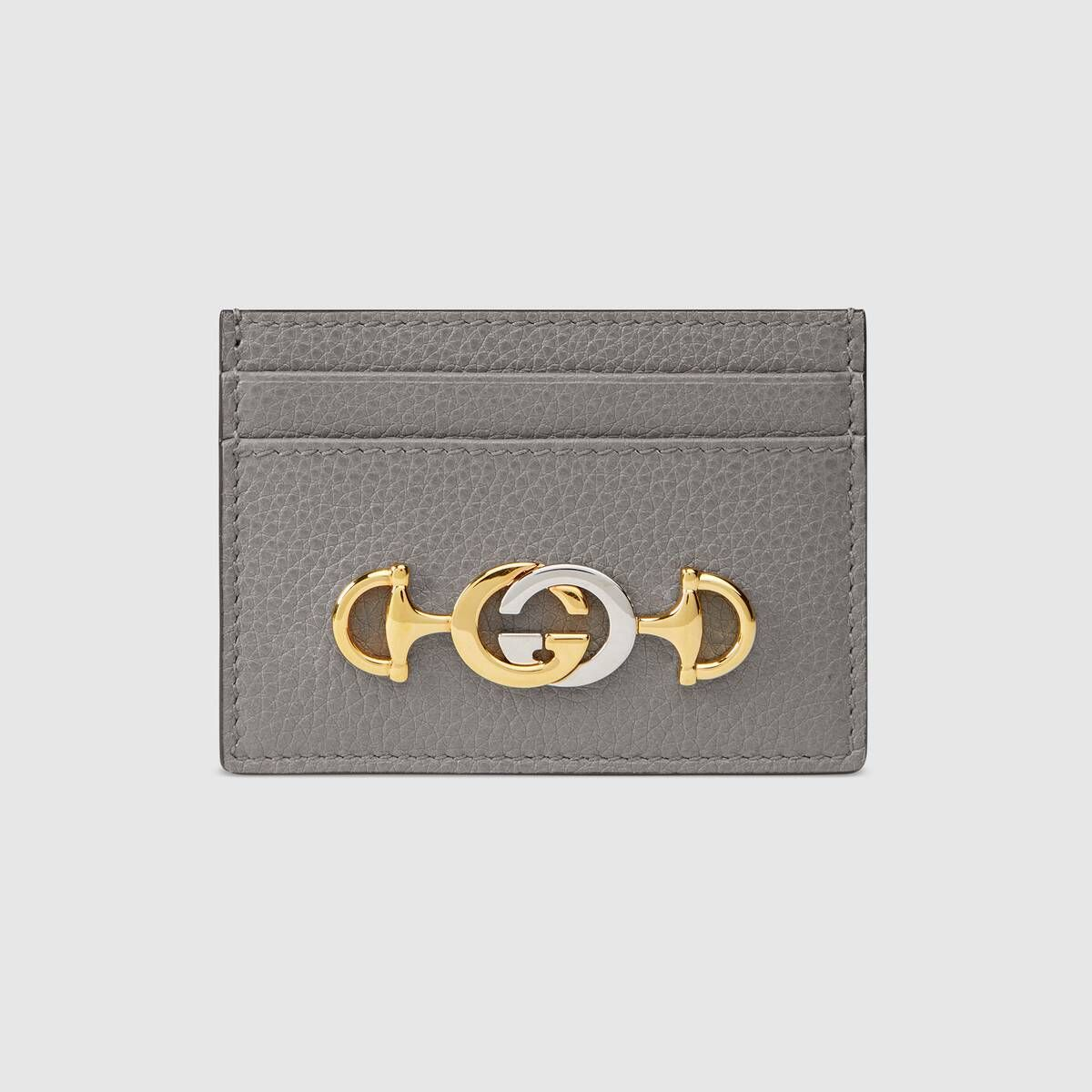Gucci gucci zumi grainy leather card case with images