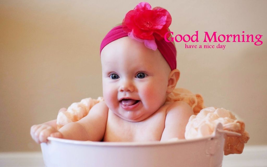 Cute Baby Crawling Bed Good Morning Stock Photo Edit Now