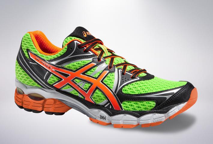 official photos fa32d c5318 Asics GEL-Pulse 6 - męskie buty do biegania (zielono-pomarańczowy)