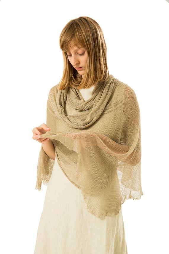 Photo of Superweicher Strickschal aus natürlichem Bambus, Bio-Schalwickel, Damenschals, langer, minimalistischer, gemütlicher Schal