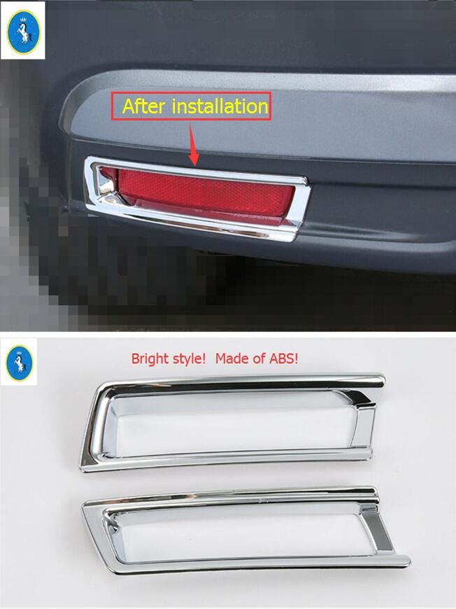 New Style For Nissan Kicks 2016 2017 ABS Tail Light Rear Trunk Fog Lamp  Cover Kit