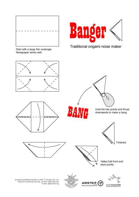 art  craft  paper banger