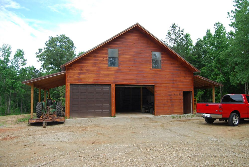 Pole garage with living quarters 19 acres in lamar for Live in barn plans