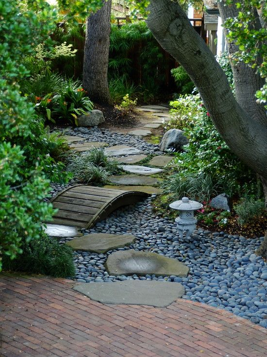 Garden Design Dry River Bed another pinner said: like the idea of a dry riverbed with stones