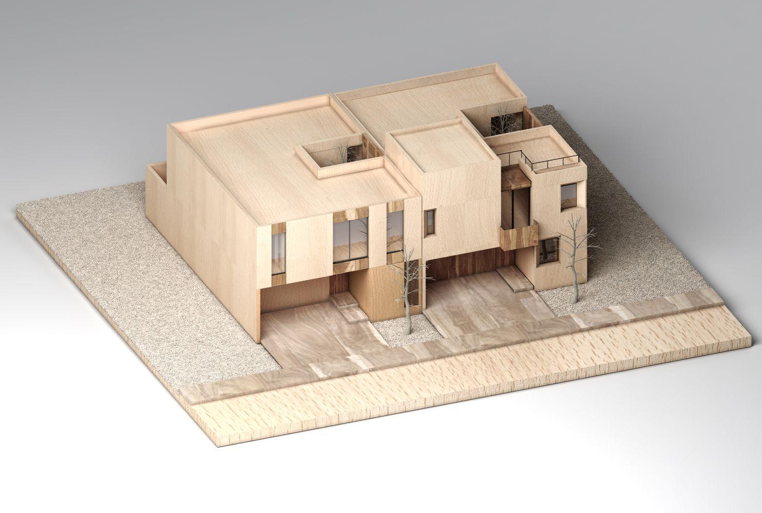 Gallery Of Sole Houses Santoscreativos Vtaller 16 Architecture Model Model Building House