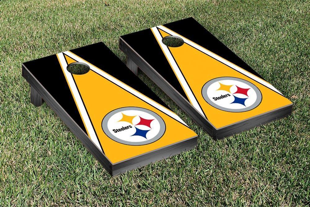 Pittsburgh Steelers NFL Football Regulation Cornhole Game Set Triangle Version