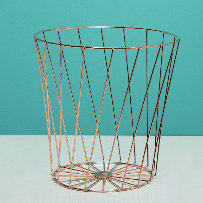 Rose Gold Wire Multipurpose Basket | Hollar.com | Pinterest | Gold ...