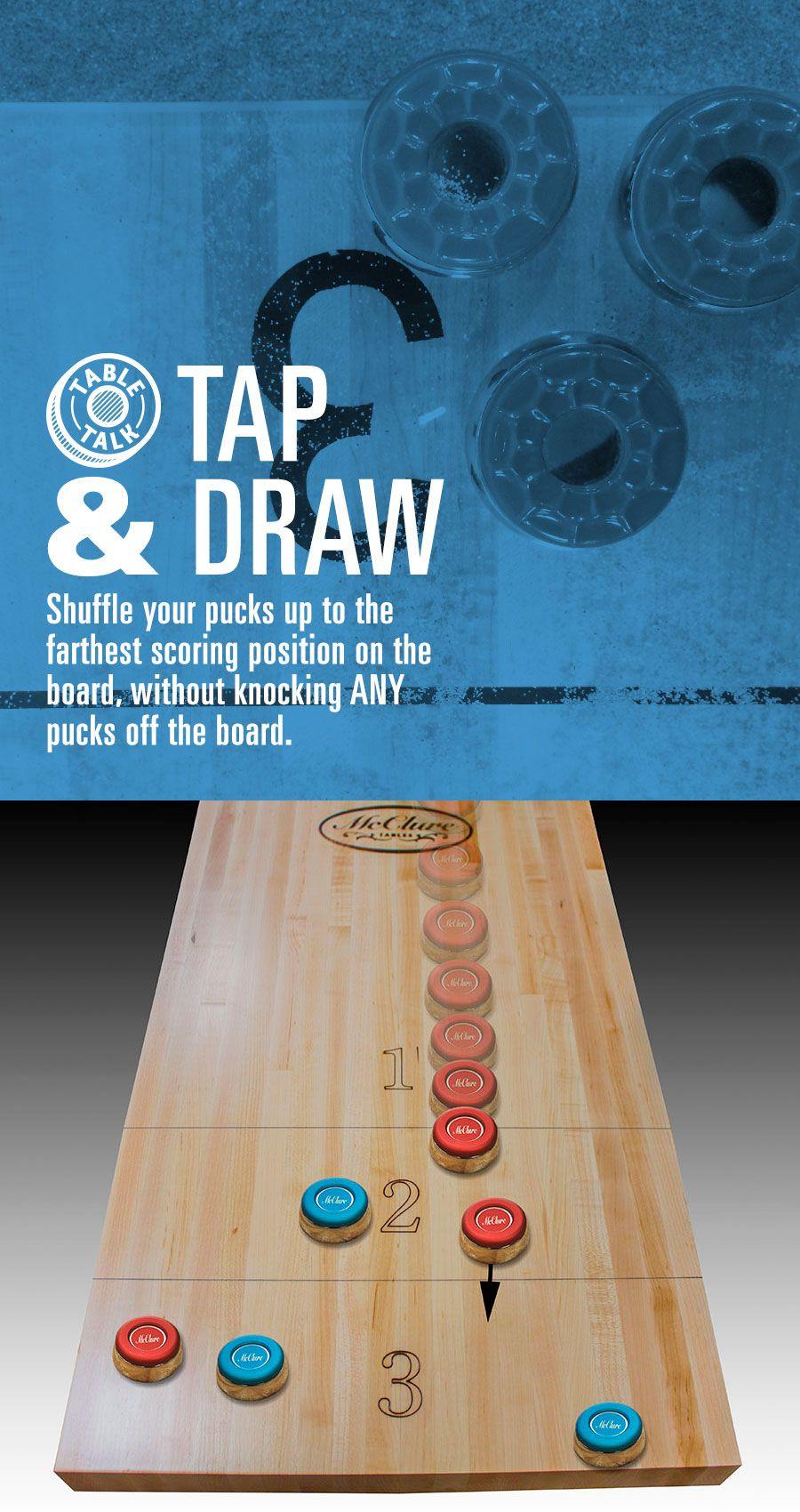 What is your trick? Shuffleboard games, Shuffleboard