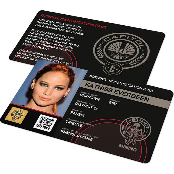 Customizable Hunger Games Costume District Id Badge Card Free Delivery Best Quality Districts 1 13 Hunger Games Hunger Games Costume Artist Trading Cards