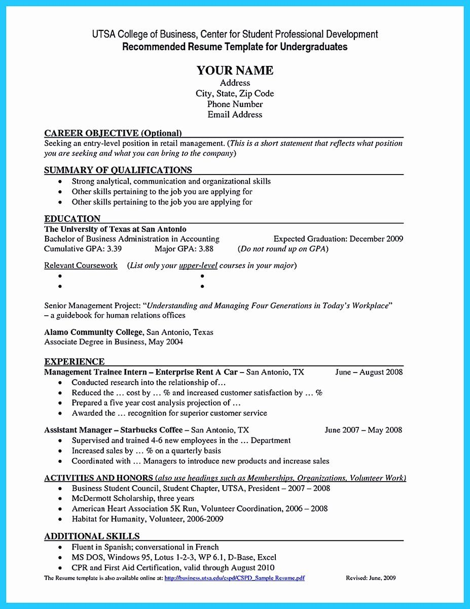 College Graduate Resume Template New Best Current College Student Resume With No Experience Job Resume Examples College Resume College Resume Template