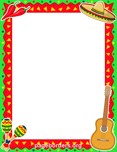 picture regarding Free Printable Fiesta Invitations named Cinco de Mayo Border Youthful Girls Cinco de mayo, Mexican
