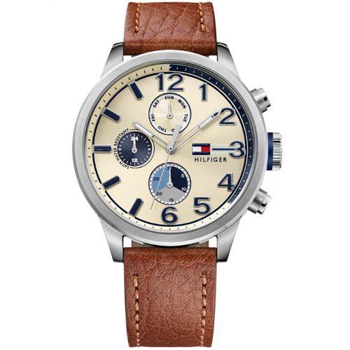 c8fa2c78670 Relógio Tommy Hilfiger Masculino Couro Marrom - 1791239