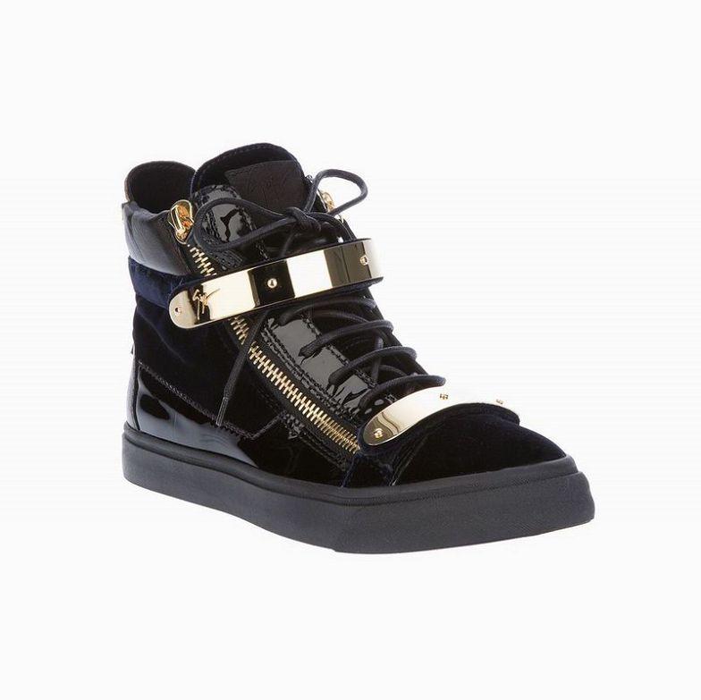 Giuseppe-Zanotti-High-Top-Buckled-Sneakers-Velvet-Blue.