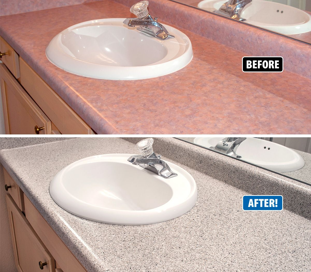 Outdated Vanities Can Be Refinished With A Complete Transformation
