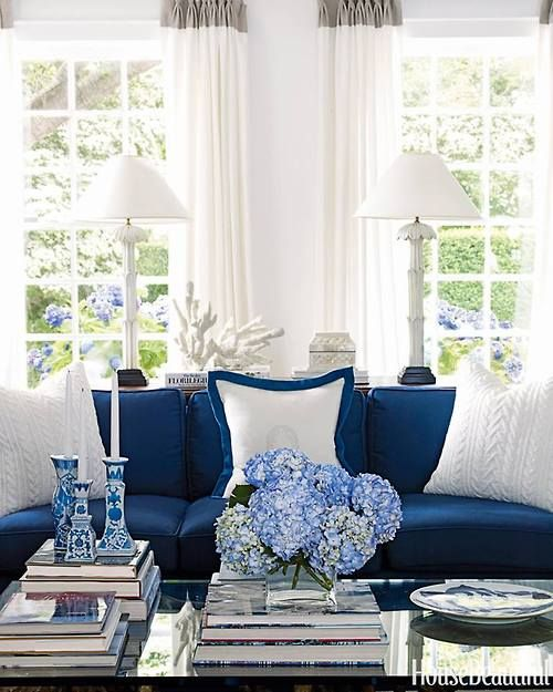 Living Room By Ralph Lauren Blue And White If You Like Blue Clean And Bright Blue And White Living Room Living Room Designs White Living Room #ralph #lauren #living #room #decor