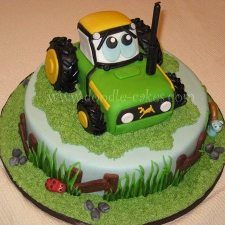 John Deere Tractor Cake Cakes and Cupcakes for Kids birthday party