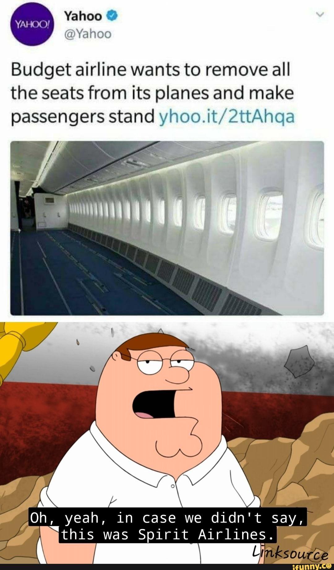 Spirit Airlines Twitter Meme