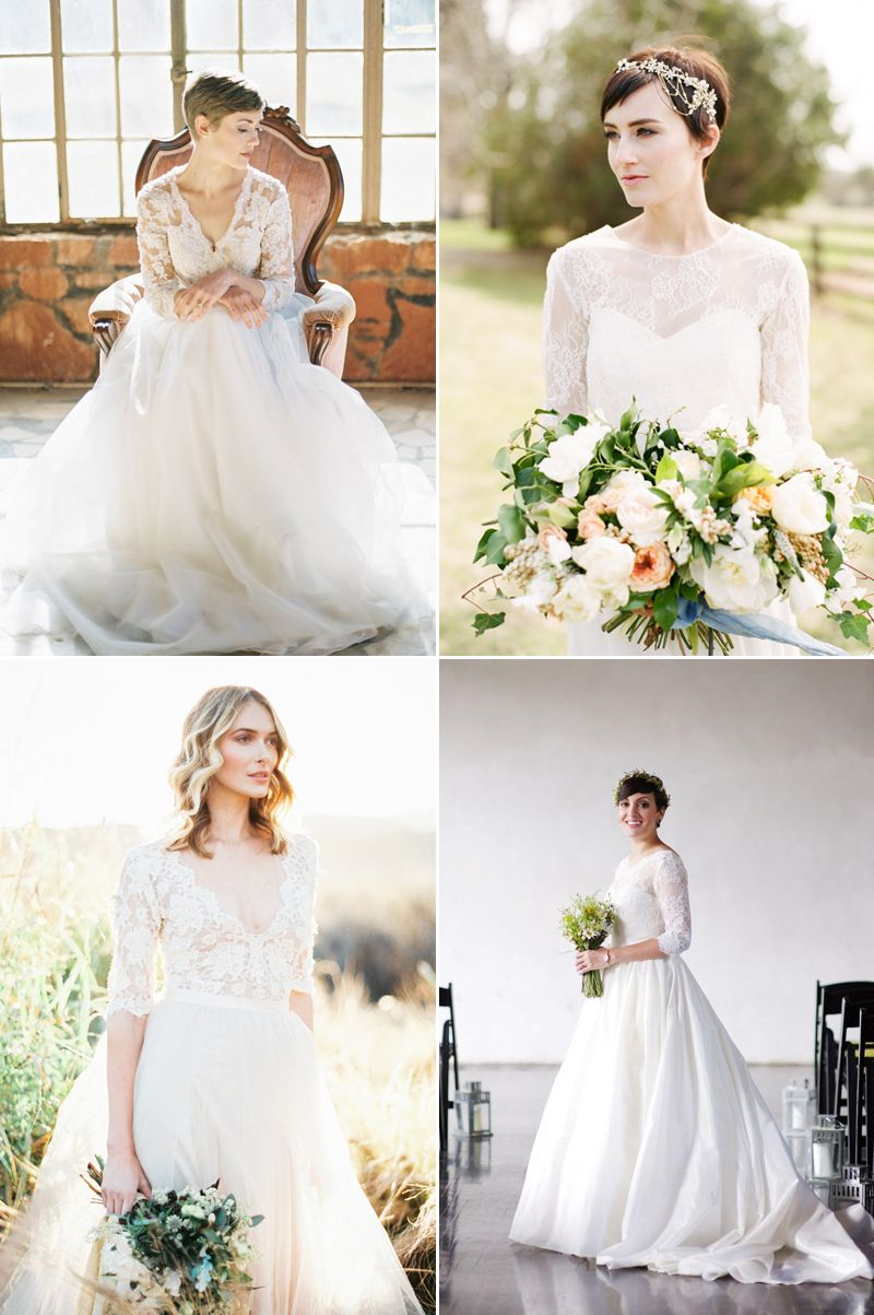 6 Beautiful Wedding Dress Styles for Brides with Short Hair! | Short ...