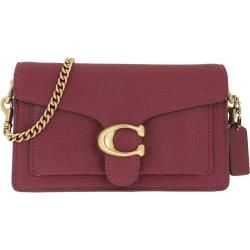 Coach Pebble Leather Tabby Chain Crossbody Bag Deep Red in rot Umhängetasche für Damen Coach