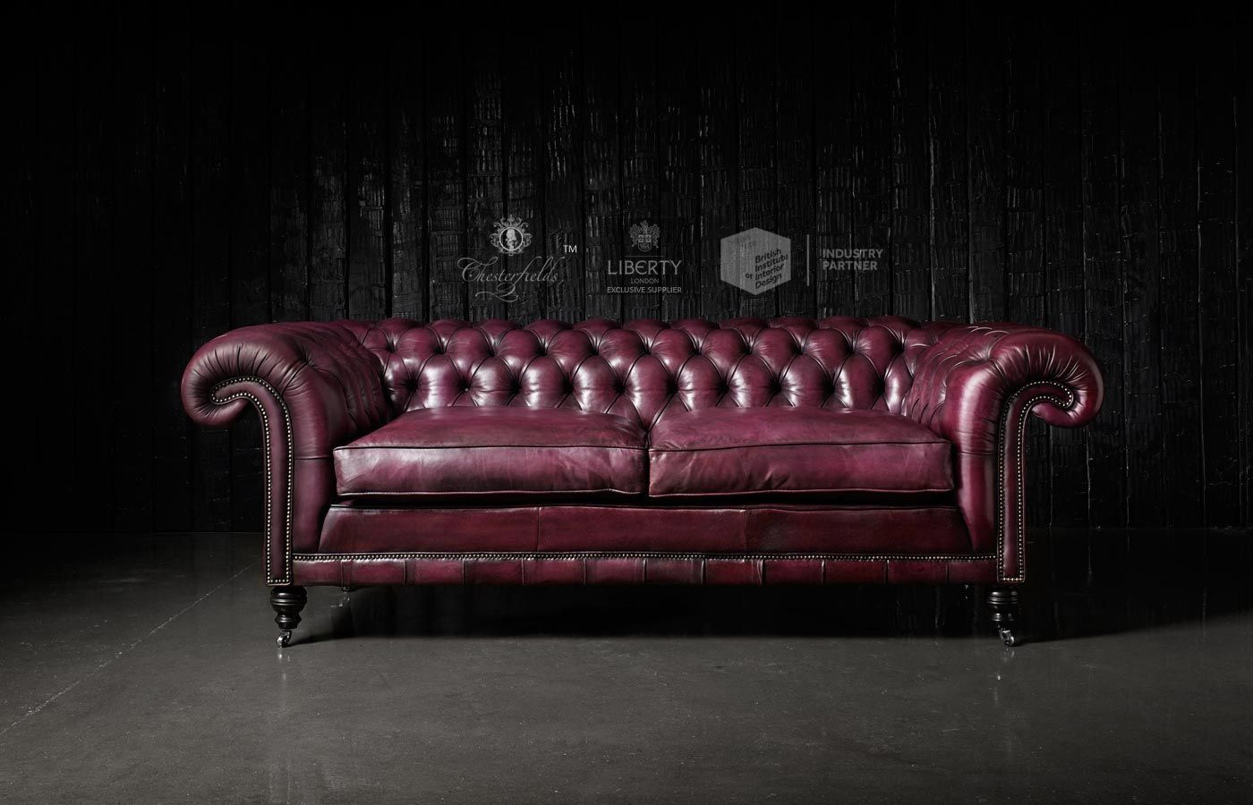 purple leather chesterfield sofa. Black Bedroom Furniture Sets. Home Design Ideas