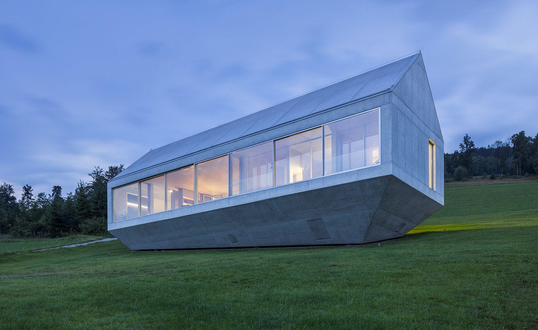 Noah S Ark A Concrete House Floats Above South Poland S Mountainous Landscape Concrete House Concrete Architecture Concrete Houses