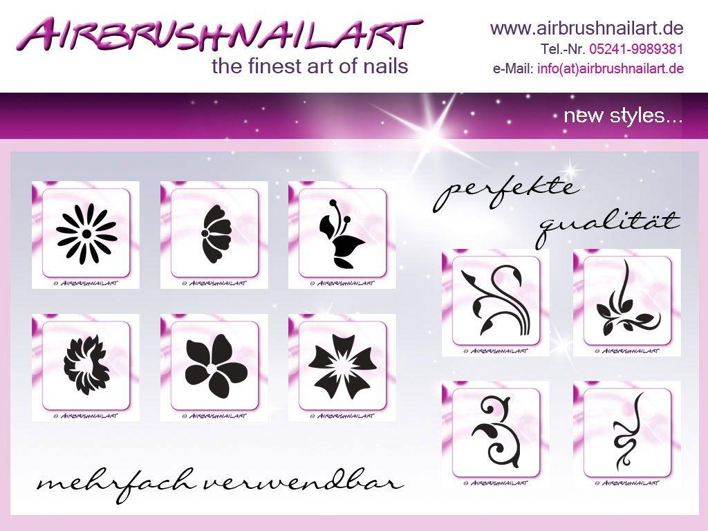 Airbrush Schablonen Blüten Blätter … | Pinteres…