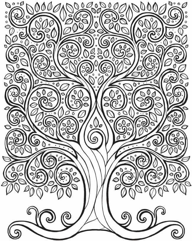 Fantastic Tree Coloring Page