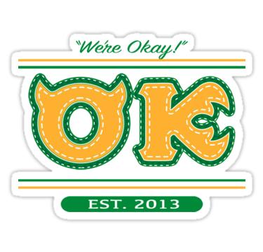 Oozma Kappa Spirit Wear Sticker By Livstuff Red Bubble Stickers Monster University Disneyland Trip