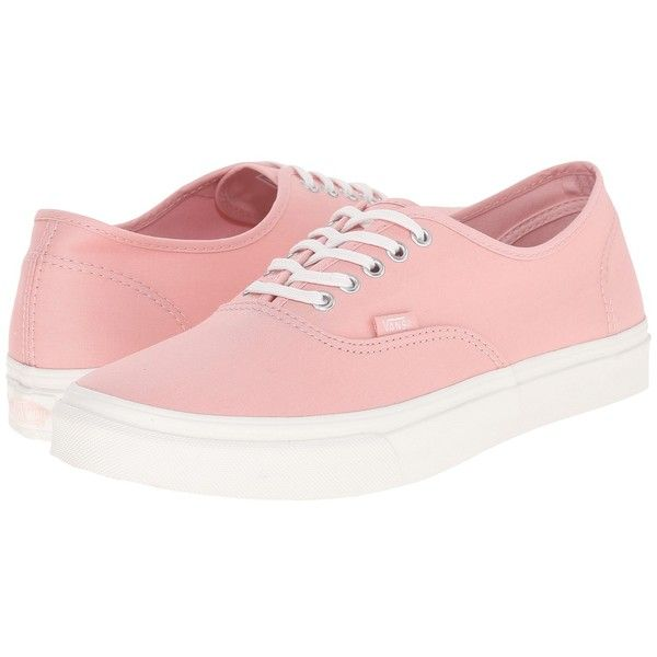 2f21b458a8 Vans Authentic Slim ((Brushed Twill) Peachskin Blanc de Blanc) Skate...  ( 55) ❤ liked on Polyvore featuring shoes