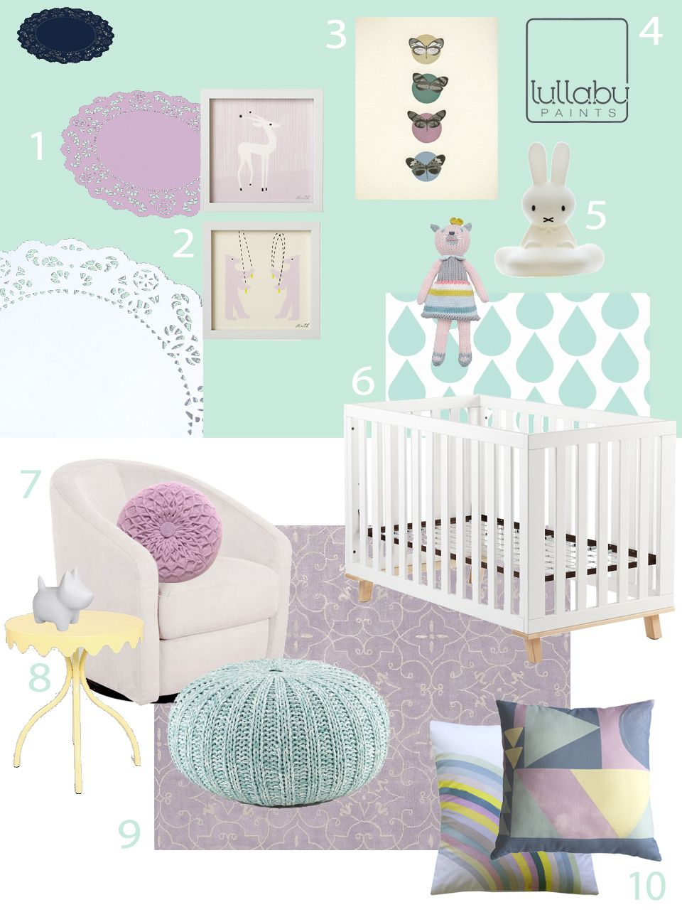 Best ideas about pastel nursery on pinterest nursery colours pastel - My Modern Nursery 68 Lovely Lilac And Mint Featuring Babyletto Madison Swivel Glider