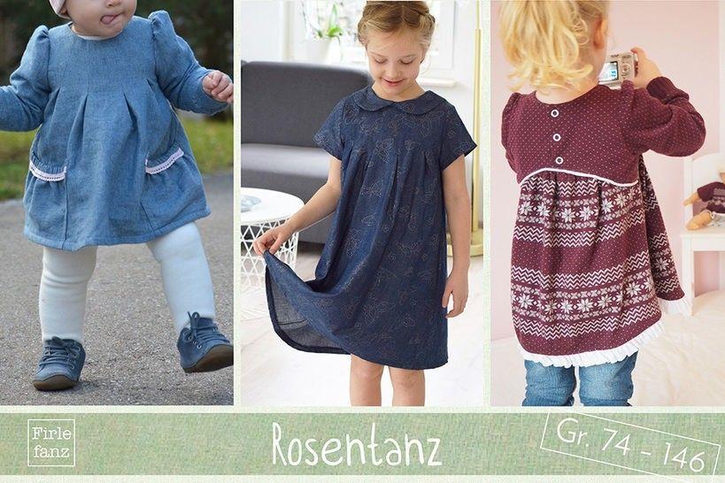 Shirt /& Hose f/ürs Baby Burda Schnittmuster 9348/Kleid Kleinkind