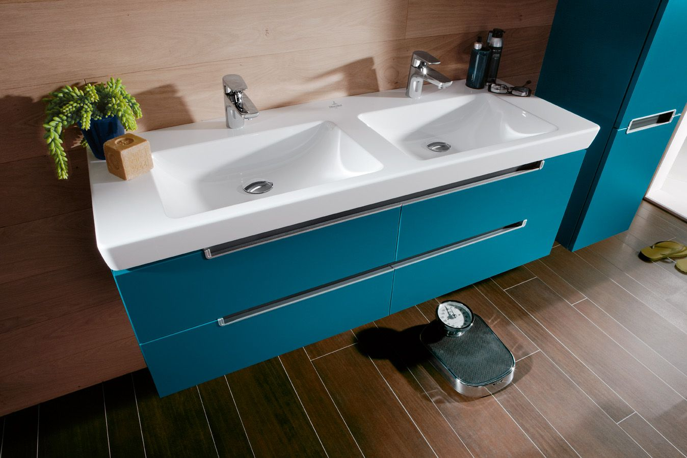 Doppelwaschtisch Villeroy Boch Subway 2.0 Villeroy Boch Petrol Blue Subway Vanity Bathroom Colour