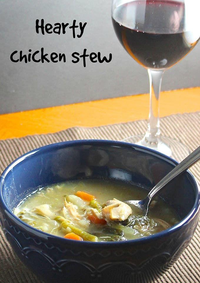 Hearty Chicken Stew Recipe From Cooking Chat Stew Chicken Stew Crockpot Dinner
