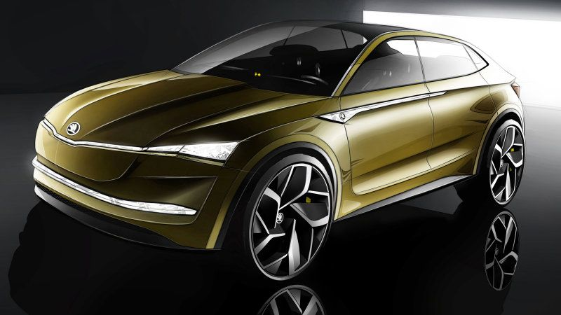 Skoda S Next Concept Is A 300 Mile Electric Suv Skoda Electric