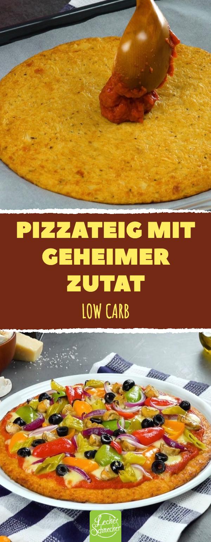 Pizza, mal low carb: Blumenkohl im Pizzateig macht's möglich #recettesympa