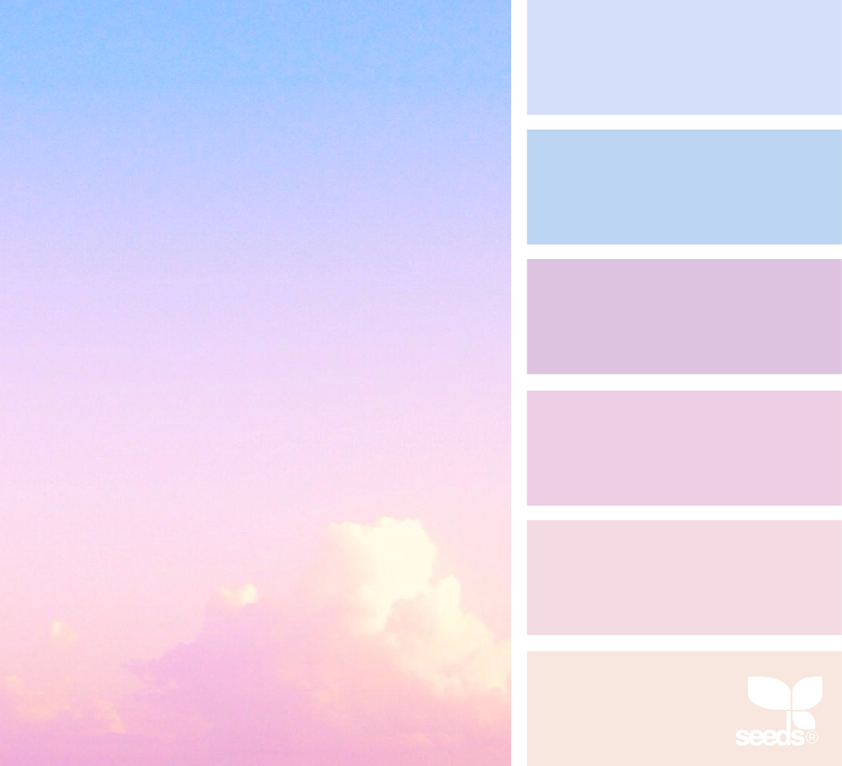 Color Dream Palette Designseeds Seeds Seedscolor Pastel Pink Blue