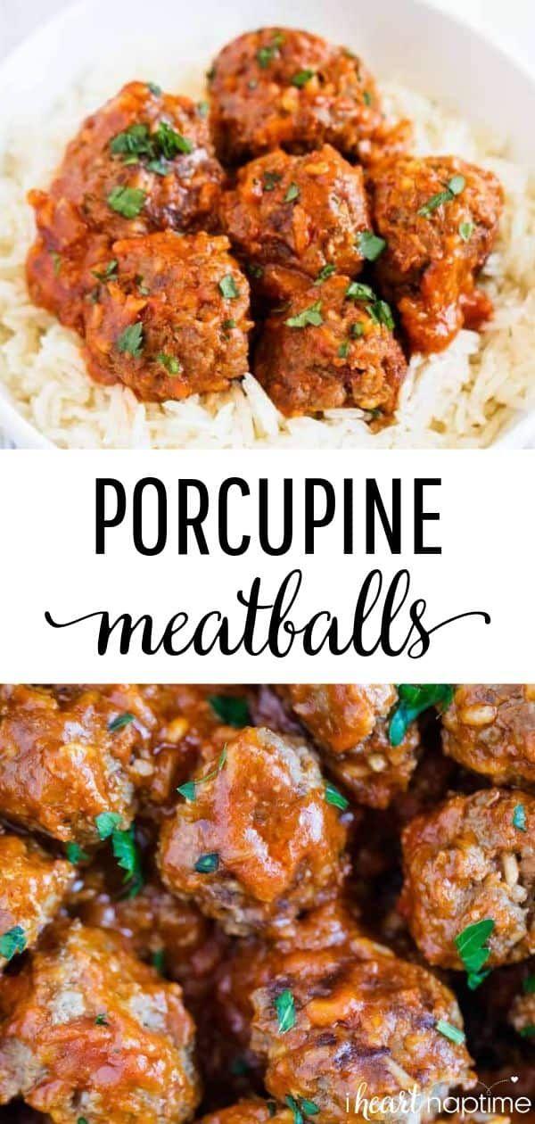 Porcupine Meatballs #beefandrice