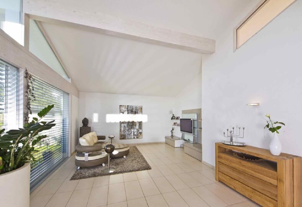 interior wohnzimmer inneneinrichtung haus bungalow glano kampa haus fertighaus ideen hausbaudirektde - Wohnzimmer Inneneinrichtung