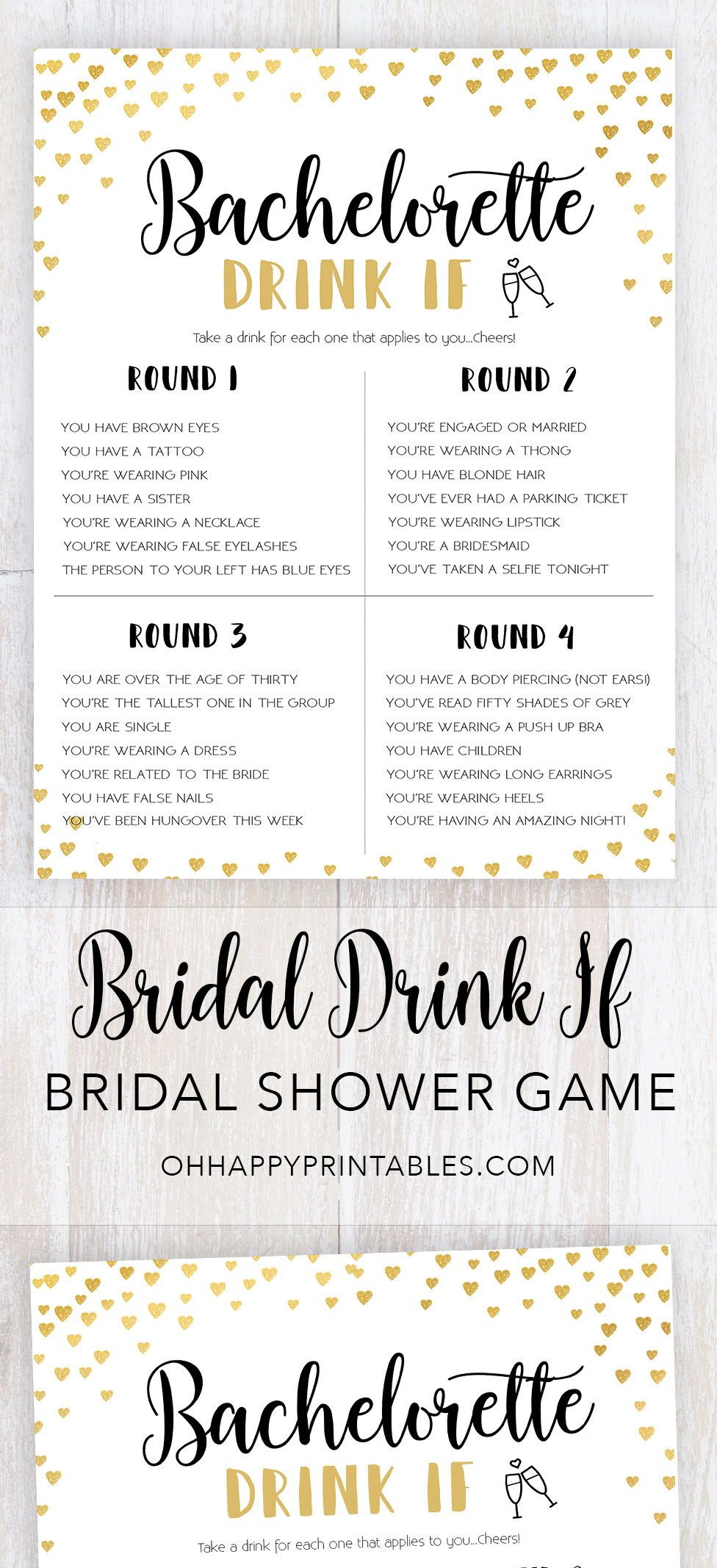 Bachelorette Drink If Bachelorette Party Games Bachelorette