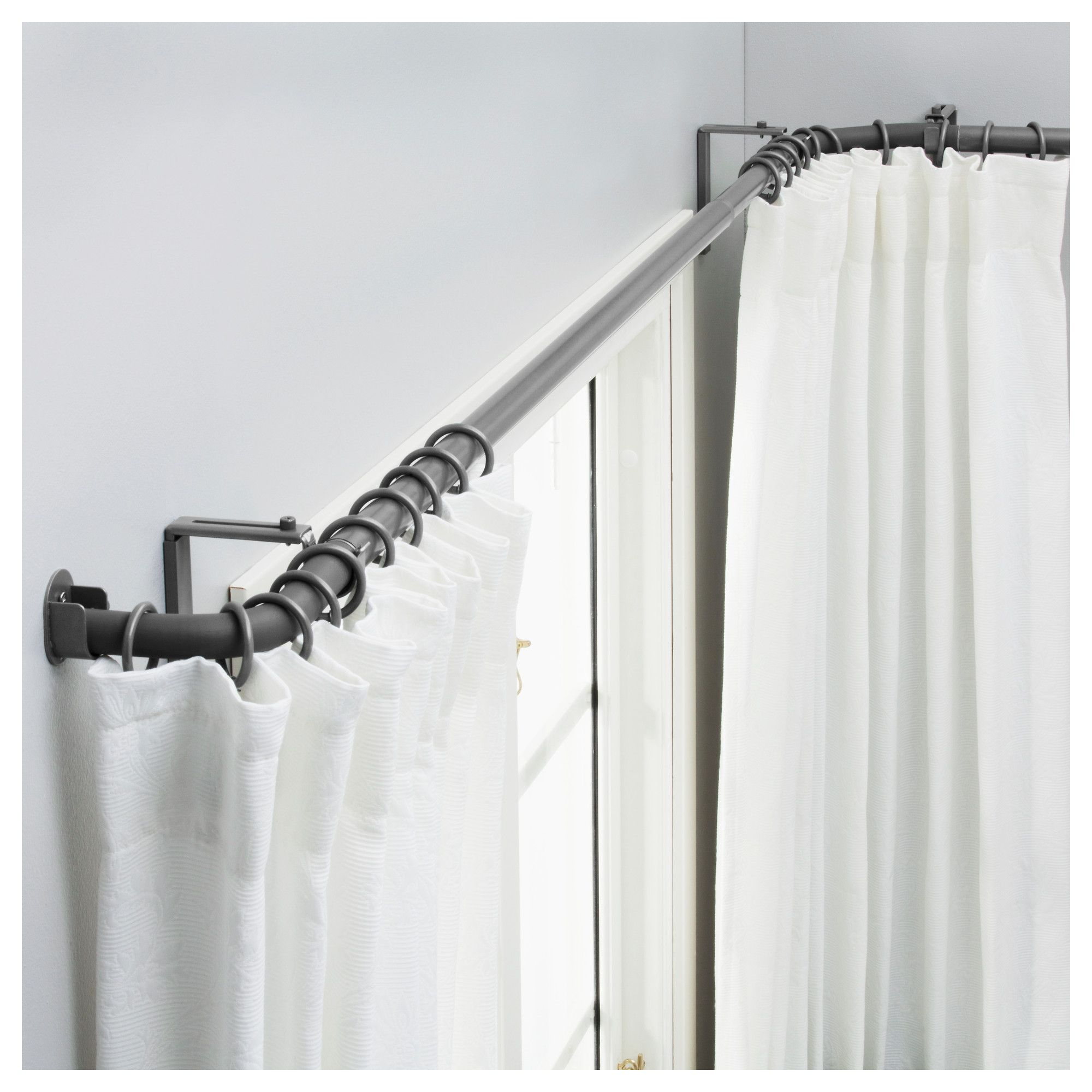 hugad curtain rod set for bay window ikea for the home pinterest k che. Black Bedroom Furniture Sets. Home Design Ideas