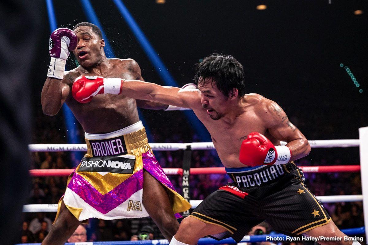 Manny Pacquiao vs. Adrien Broner (2019) Manny pacquiao