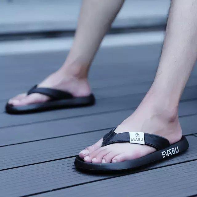 855c7c8103d75f 2018 hombres zapatillas hombres Flip Flops moda verano playa agua goma  fuera varón marca sandalias negro